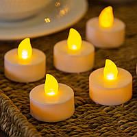Свечи чайные светодиодные, набор из 4 шт