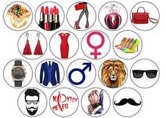 """Вафельна картинка  """"Чоловічі та жіночі"""""""
