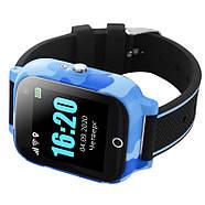 Детские смарт часы JETIX T-Watch с термометром,GPS трекером, телефоном, виброзвонком и датчиком падения (Blue), фото 2