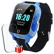 Детские смарт часы JETIX T-Watch с термометром,GPS трекером, телефоном, виброзвонком и датчиком падения (Blue), фото 3