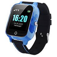 Детские смарт часы JETIX T-Watch с термометром,GPS трекером, телефоном, виброзвонком и датчиком падения (Blue), фото 4