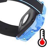 Детские смарт часы JETIX T-Watch с термометром,GPS трекером, телефоном, виброзвонком и датчиком падения (Blue), фото 6
