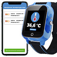 Детские смарт часы JETIX T-Watch с термометром,GPS трекером, телефоном, виброзвонком и датчиком падения (Blue), фото 7
