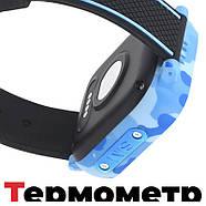 Детские смарт часы JETIX T-Watch с термометром,GPS трекером, телефоном, виброзвонком и датчиком падения (Blue), фото 8