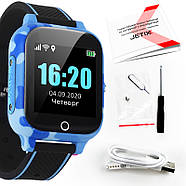 Детские смарт часы JETIX T-Watch с термометром,GPS трекером, телефоном, виброзвонком и датчиком падения (Blue), фото 10