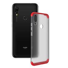 Противоударный чехол PC накладка GKK LikGus 360 градусов NEW для Xiaomi Redmi Note 7 / Note 7 Pro / Note 7s Красный