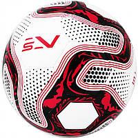 Мяч футбольный для искусственных полей SportVida размер 5 Полиуретан Бело-красный (ЛФ SV-PA0025-1)