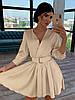Шелковое платье с расклешенной юбкой и верхом на запах 66mpl1447Q
