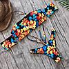 Разноцветный принтованный купальник двойка без бретель 61mkp523