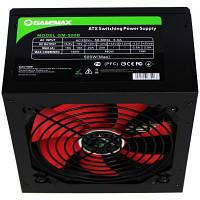 Блок живлення GAMEMAX 500W (GM-500B), ATX 12V v2.3, активный PFC, 1x120мм, 20+4pin, 4+4pin, 1x6pin