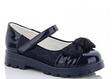 Туфли детские синие,туфли на девочку,туфли детские школьные,Yalike 56-117