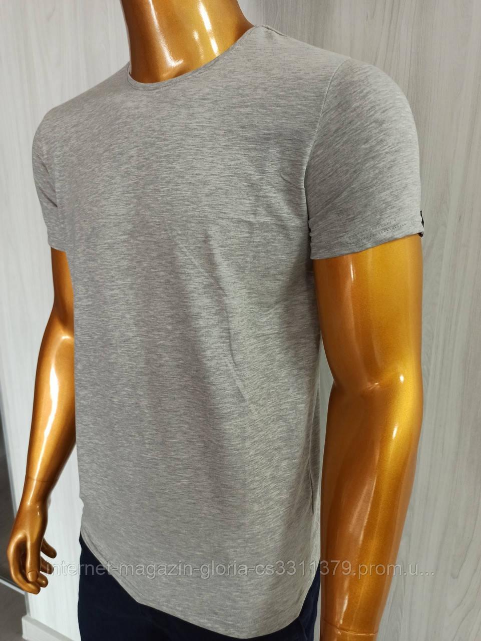Мужская футболка MSY. 42636-8182(grey). Размеры: M,L,XL,XXL.