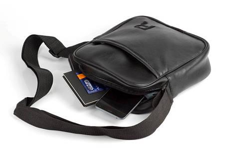 Мужская кожаная PU сумка через плечо месенджер R размер XL, фото 2