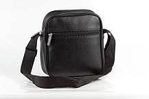 Мужская кожаная PU сумка через плечо месенджер R размер XL, фото 3