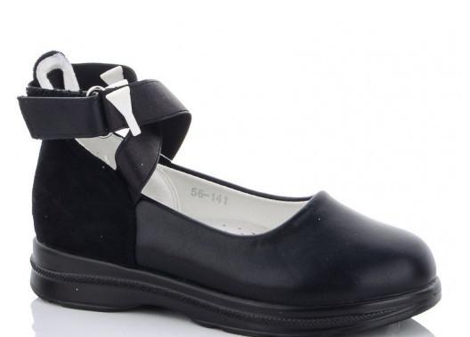 Туфли детские черные,туфли на девочку,туфли детские школьные,Yalike 56-141