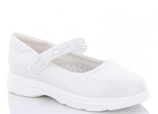 Туфли детские белые,туфли на девочку,туфли детские школьные,Yalike 56-140