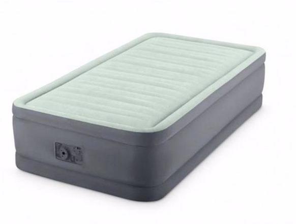 Односпальная надувная кровать Intex 64902 (99 x 1.91 x 46 см) PremAire Airbed + Встроенный электронасос 220В