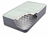 Односпальная надувная кровать Intex 64902 (99 x 1.91 x 46 см) PremAire Airbed + Встроенный электронасос 220В, фото 3