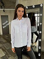 Стильна річна однотонна сорочка з софта 4 кольори