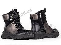 """Ботинки  женские """"Allshoes"""" #148585. р-р 36-40. Цвет черный. Оптом, фото 1"""