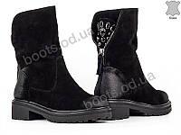 """Ботинки  женские """"Allshoes"""" #148568. р-р 36-40. Цвет черный. Оптом, фото 1"""