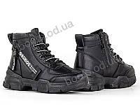 """Ботинки  женские """"Allshoes"""" #148017. р-р 36-41. Цвет черный. Оптом, фото 1"""