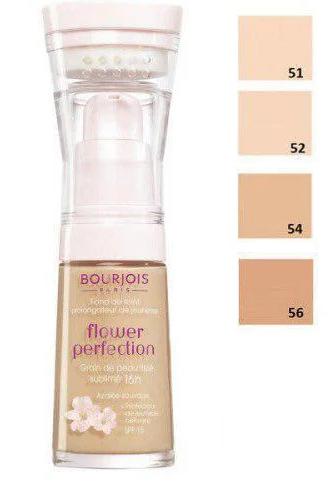 BOURJOIS FLOWER PERFECTION выравнивающая тон.основа (палитра 4 шт) 30ml №51, 52, 54, 56 )