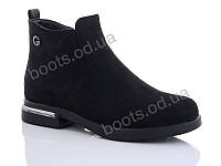 """Ботинки  женские """"AMG"""" #W118-1. р-р 36-40. Цвет черный. Оптом"""