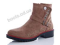 """Ботинки  женские """"Cinar"""" #R112P-3. р-р 36-40. Цвет коричневый. Оптом"""