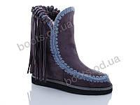 """Ботинки  женские """"Cinar"""" #R8090-2. р-р 36-41. Цвет серый. Оптом"""
