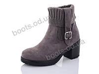 """Ботинки  женские """"Cinar"""" #W032P-1. р-р 36-40. Цвет серый. Оптом"""