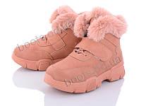 """Ботинки  женские """"Siying"""" #G380-6. р-р 36-41. Цвет розовый. Оптом"""