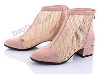 """Ботинки  женские """"Mei De Li"""" #231-1 pink. р-р 36-40. Цвет розовый. Оптом"""