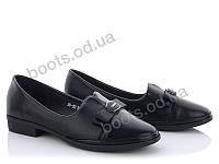 """Туфли женские  женские """"Mei De Li"""" #ADF52. р-р 34-38. Цвет черный. Оптом"""