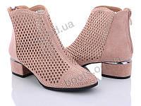 """Ботинки  женские """"Mei De Li"""" #231-6 nude. р-р 36-40. Цвет розовый. Оптом"""