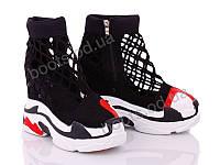"""Ботинки  женские """"Diana"""" #G22 ботинок сетка. р-р 36-40. Цвет черный. Оптом"""