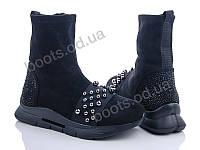 """Ботинки  женские """"Fuguishan"""" #37-13-1. р-р 36-41. Цвет черный. Оптом"""