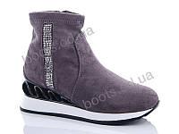 """Ботинки  женские """"Fuguishan"""" #37-21-2. р-р 36-41. Цвет серый. Оптом"""