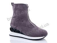 """Ботинки  женские """"Fuguishan"""" #37-22-2. р-р 36-41. Цвет серый. Оптом"""