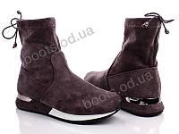 """Ботинки  женские """"Fuguishan"""" #37-36-2. р-р 36-41. Цвет серый. Оптом"""
