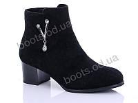 """Ботинки  женские """"Gallop Lin"""" #LX020. р-р 36-41. Цвет черный. Оптом"""