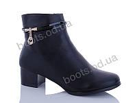 """Ботинки  женские """"Gallop Lin"""" #E199. р-р 36-41. Цвет черный. Оптом"""