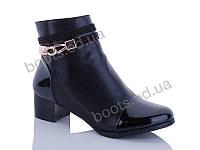 """Ботинки  женские """"Gallop Lin"""" #E201. р-р 36-41. Цвет черный. Оптом"""