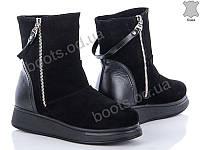 """Ботинки  женские """"G&M"""" #1048 ЗАМШ КОЖА ny. р-р 36-41. Цвет черный. Оптом"""