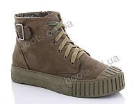 """Ботинки  женские """"Gollmony"""" #G131-3. р-р 36-41. Цвет зеленый. Оптом"""