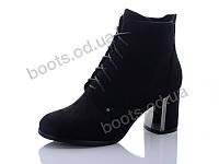 """Ботинки  женские """"Hongquan"""" #12-3. р-р 36-40. Цвет черный. Оптом"""