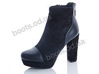 """Ботинки  женские """"Hongquan"""" #10-9. р-р 36-40. Цвет черный. Оптом, фото 1"""