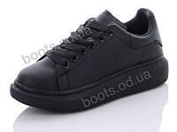 """Кроссовки  женские """"Hongquan"""" #J80-12. р-р 36-40. Цвет черный. Оптом"""