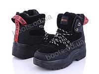 """Ботинки  женские """"Ideal"""" #K1310. р-р 36-41. Цвет черный. Оптом"""