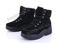 """Ботинки  женские """"Ideal"""" #K1306. р-р 36-41. Цвет черный. Оптом"""